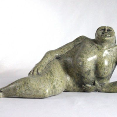 Inuit carving of Sedna by Adlalo Laisa