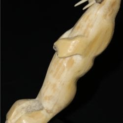 Inuit Carving of Ivory Walrus by Penny Kiawa