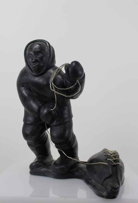 This seal catch scene is a gorgeous piece of Inuit art