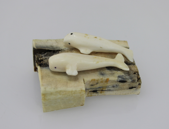Gorgeous bone and ivory carving by Inuit artist Lea Makittuq