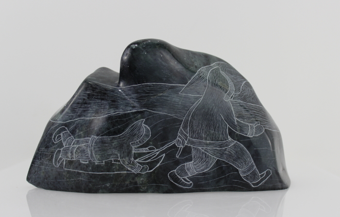 Beautifully etched piece by Inuit artist Mary Alaku