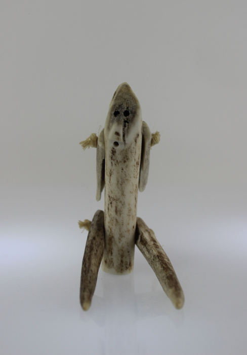 Bone person made by Sarah Iootna, an Inuk artist from Arviat