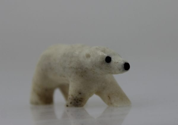 Lovely bear carved by Igloolik artist Silas Qualaut.