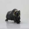 Gorgeous musk ox carved by Pootoogook Jaw from Cape Dorset, traditional image.