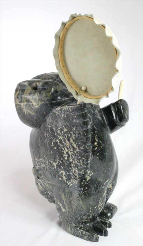 Inuit carving of Shamans by Palaya Qiatsuq