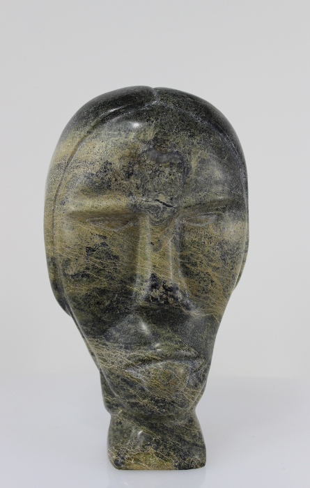 Face carved by Inuit artist Papriak Tukikie