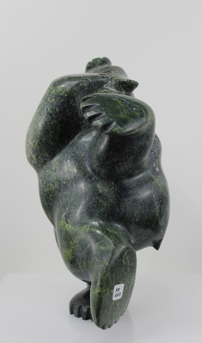 Stunning serpentine bear by famous Inuit Carver Ottokie Samayualie