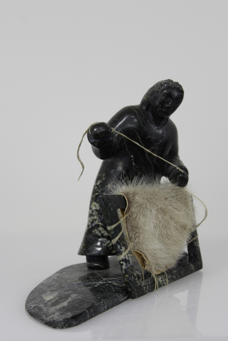 Woman with sealskin