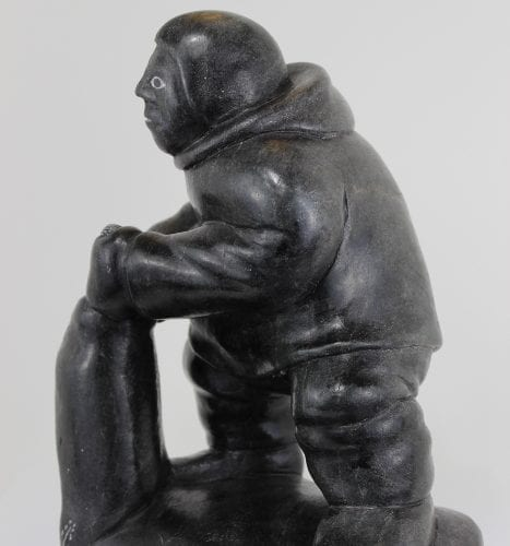 Inuit carving of Man with seal catch