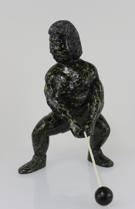 Hammer Throw, Inuit carving by well-known Isaaci Etidloie