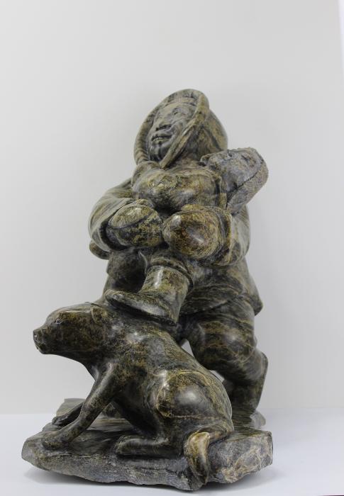 Stunning serpentine composition by Inuit artist Sii Ashoona
