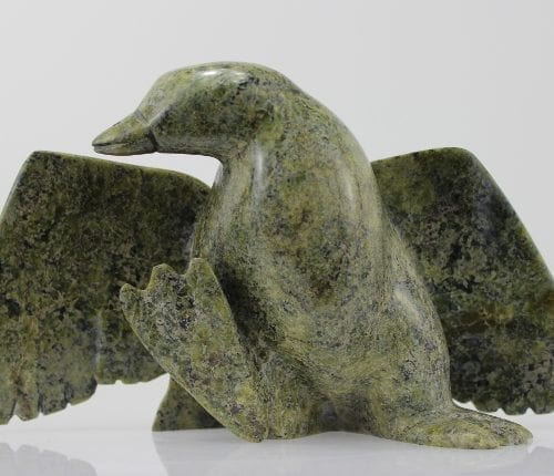 Gorgeous goose carved by Ottokie Samayualie, an Inuit artist from Cape Dorset