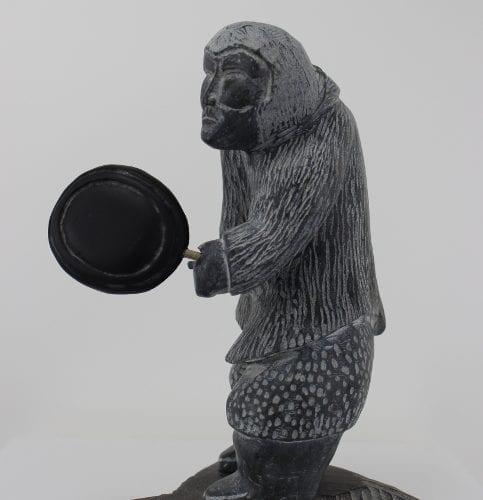 Wonderful carving of a drum dancer by George Noah
