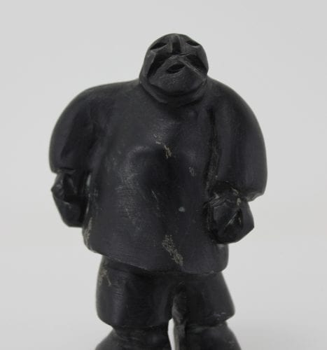 "Inuit art carving, ""Figure"" by Baker Lake artist Hugh Haiqpi"