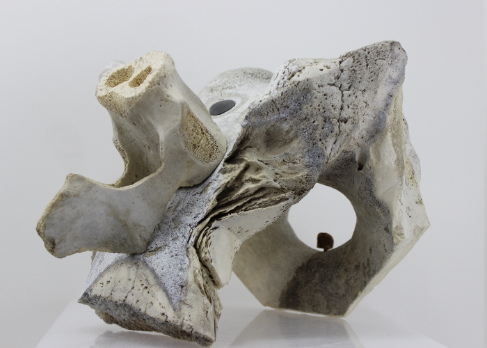 Abstract whalebone carving by an unknown Inuit artist