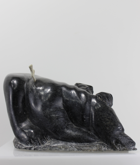 Bear fight, carved by Aisa Amittuk, an Inuit artist from Akulivik