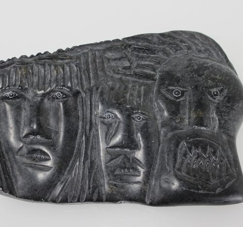 Interesting carving by Aipili Novalinga, an Inuit artist from Puvrunituq