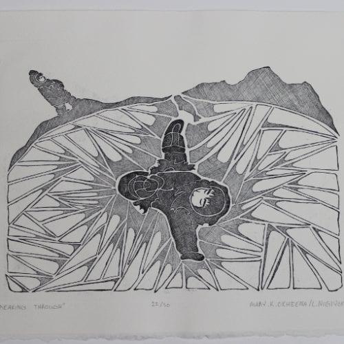 Fantastic print by Mary Okheena, an Inuit artist from Ulukhaktok