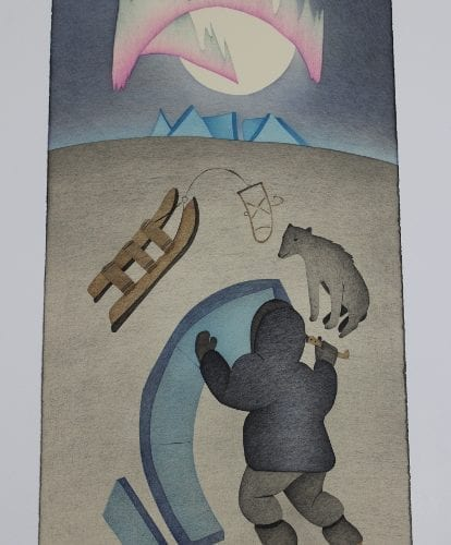 Wonderful print by Susie Malgogkak, an artist from Ulukhaktok