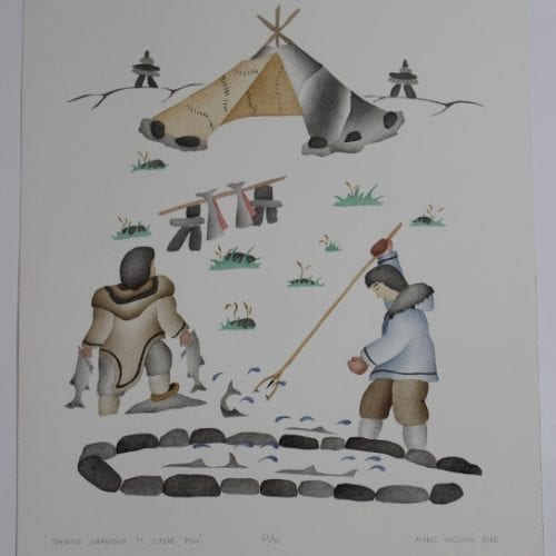 Gorgeous Inuit print by Mabel Nigiyok