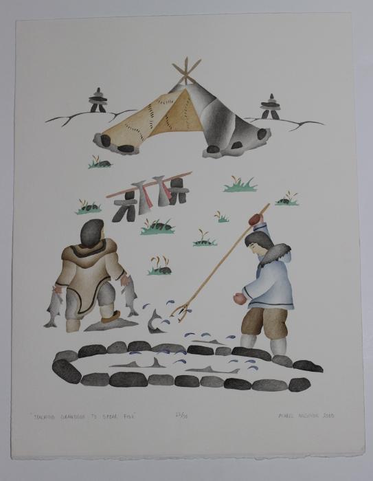 Gorgeous Inuit print by Mabel Nigiyok