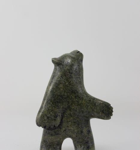 Stunning standing bear by Inuit artist Alasuaq Sharky, an artist from Cape Dorset