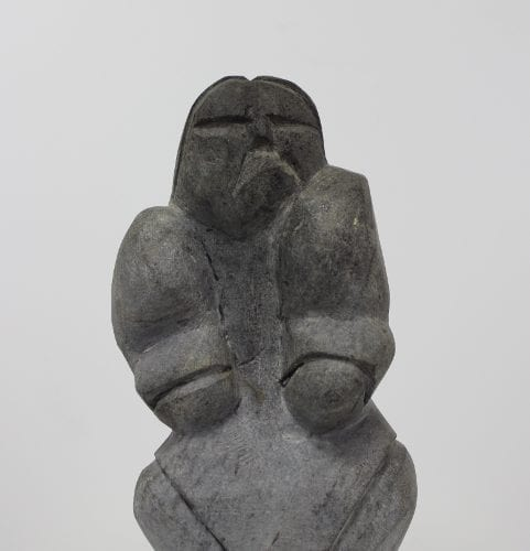 Wonderful Baker Lake carving of a woman by Inuit artist Thomas Akilak