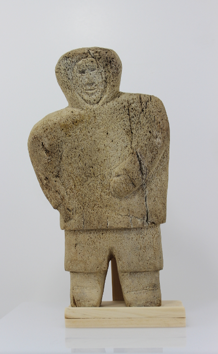 Whalebone Carving Of A Standing Person Unknown Artist Ukpik Art