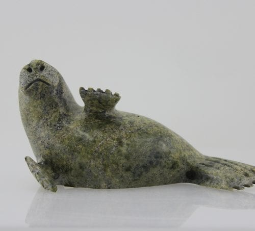 Seal carved by Inuit artist Lyta Josephie, an artist from Iqaluit