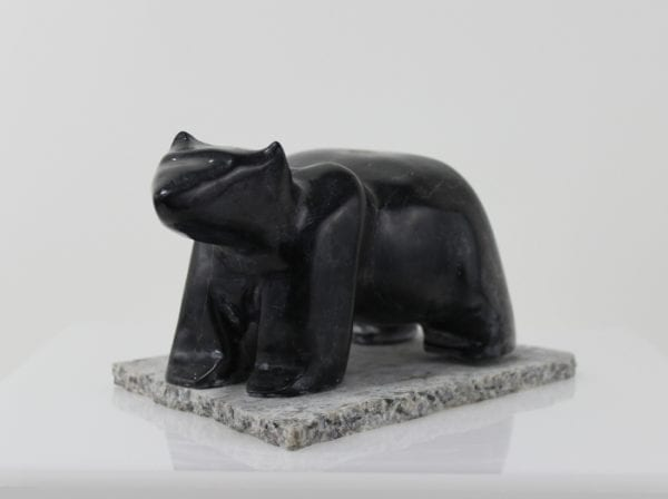 Marvellous carving of a bear by an unknown artist from Hopedale, Labrador.