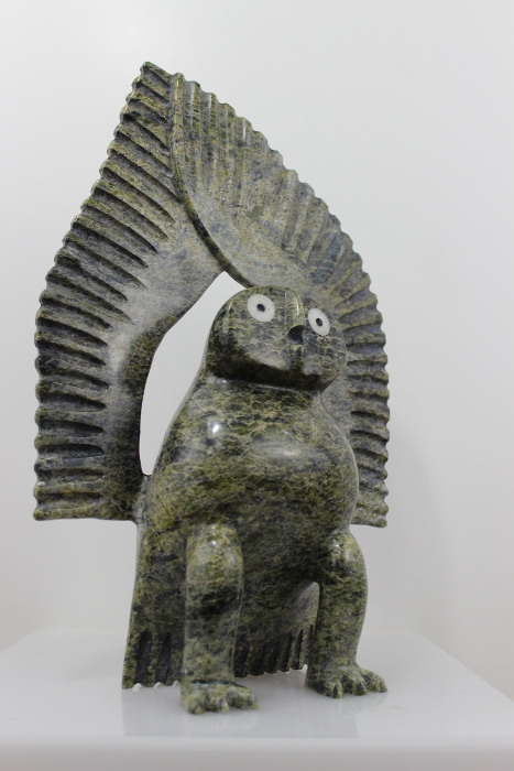 Stunning owl carved by Luutaaq Qaumagiaq, an Inuit artist from Cape Dorset.