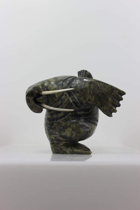 Dancing Walrus by Pitseolak Qimirpik from Cape Dorset