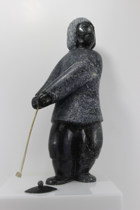 Arctic Golfer by Isaaci Etidloie from Cape Dorset