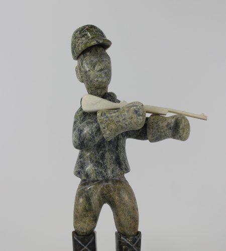 Hunter by Pitseolak Oshutsiaq from Cape Dorset