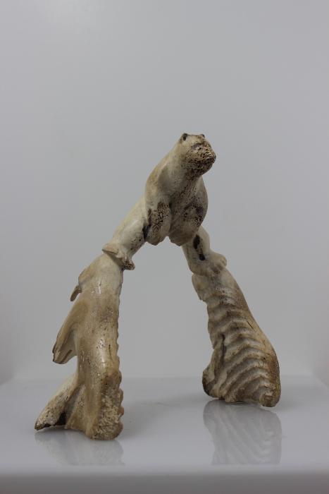 Bear in bone by Leo Angotignuar from Coral Harbour