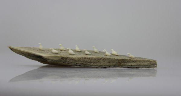 Miniature Birds on Float by G.Teriarnark from Pelly Bay/Kugaaruk