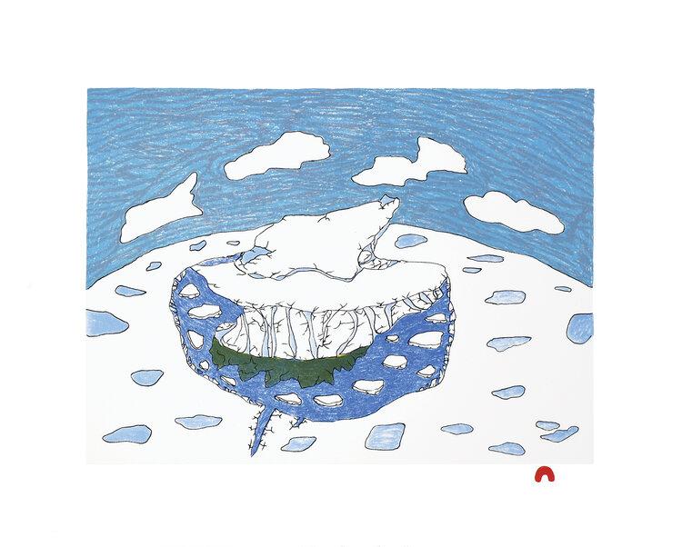 OOLOOSIE SAILA Solitary Iceberg 2020 Dorset Print
