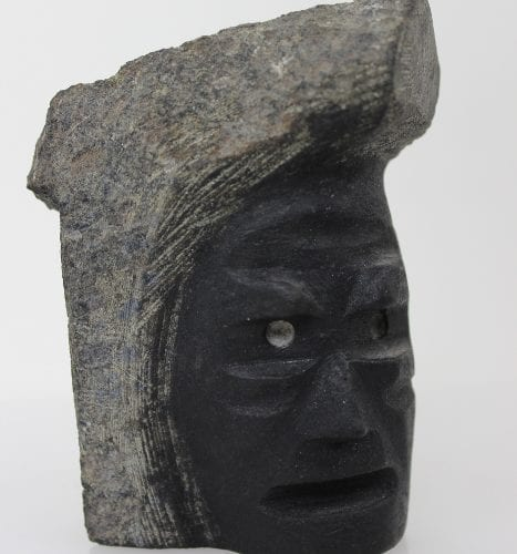 Dark Mask by Kudlu Kellypalik from Kinngait - Cape Dorset