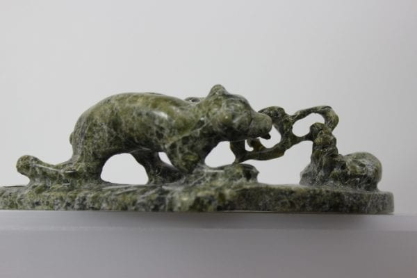 Trapped Fox by Pootoogook Jaw from Kinngait - Cape Dorset