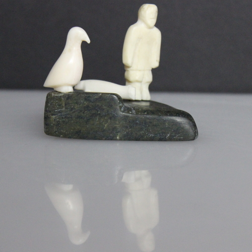 Miniature Hunting Scene by Emily Pangnerk Illuitok from Pelly Bay--Arviliqjuaq