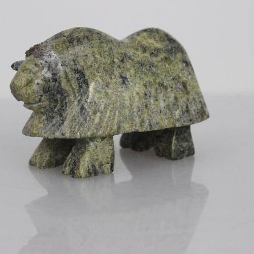 Muskox by Davidee Qimirpik Parr from Kinngait - Cape Dorset