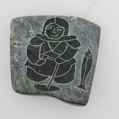Relief Carving by Annie Parr from Cape Dorset - Kinngait