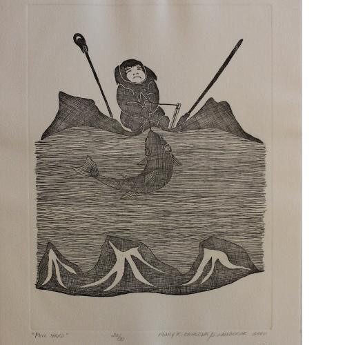 Print Pull Hard by Mary O'Kheena from Holman - Ulukhaktok