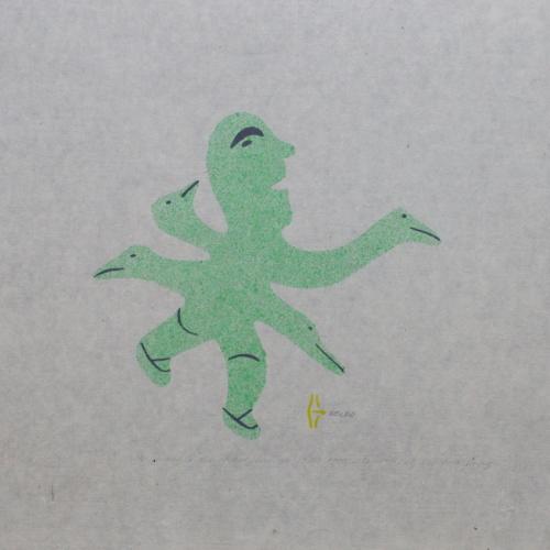 He wished he had wings Print by Irene Tiktaalaq Avaalaaqiaq from Baker Lake
