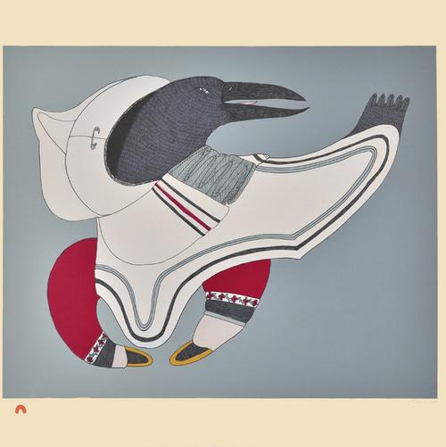 Raven's Regalia by Ningeokuluk Teevee from Cape Dorset/Kinngait