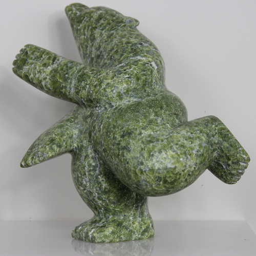 Green Dancing Bear by Palaya Qiatsuq from Cape Dorset/Kinngait