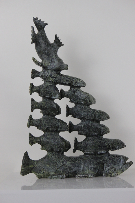 School of Fish by Pavinak Petaulassie from Cape Dorset/Kinngait