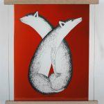 Foxes by Kakulu Saggiaktok from Cape Dorset / Kinngait