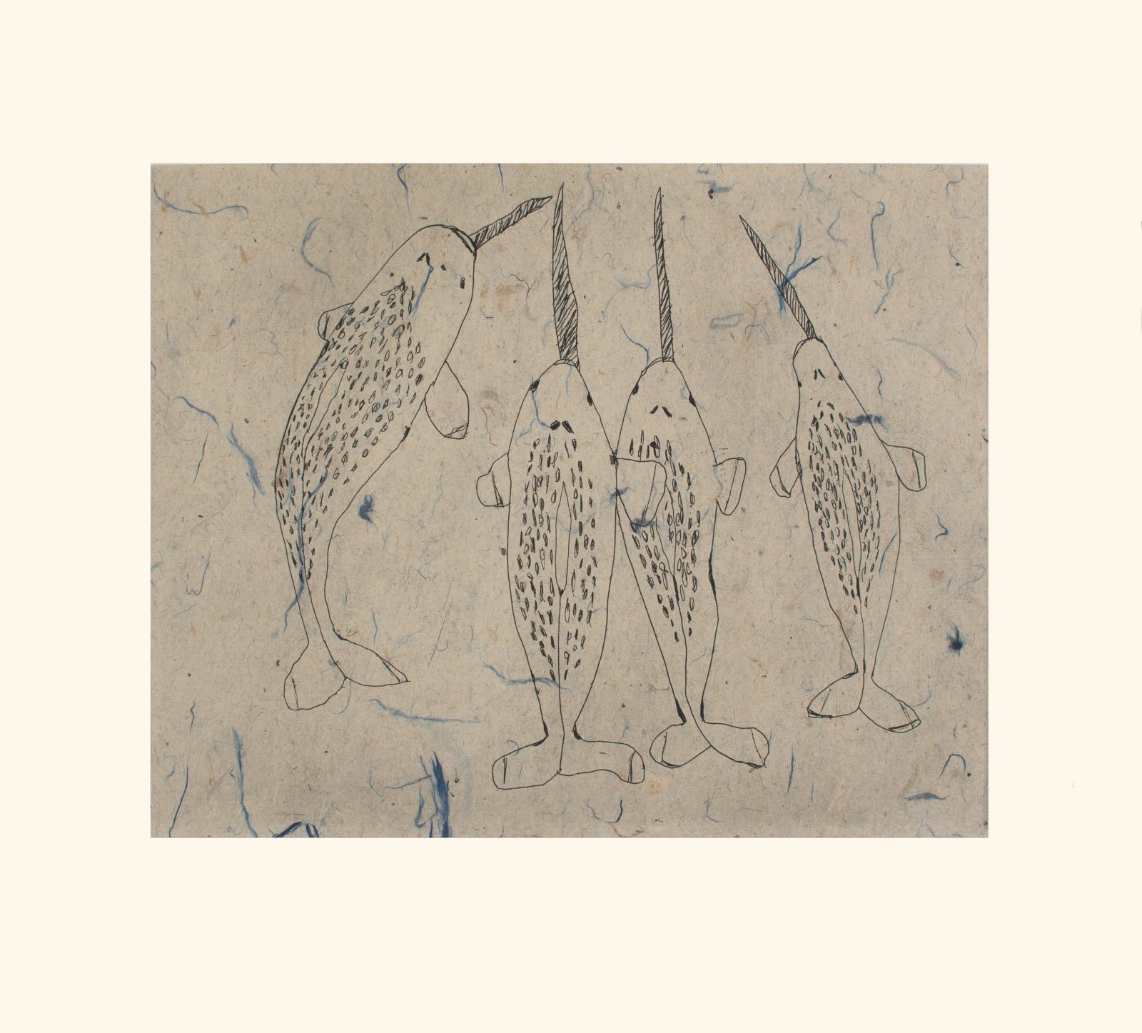 OHITO ASHOONA Blessing of Narwhals Cape Dorset Print 2021