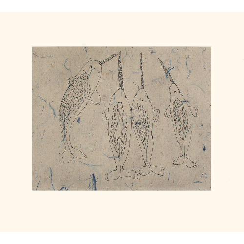 Blessing of Narwhals by Ohito Ashoona 21-06 2021 Dorset Print Collection